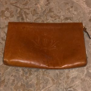 Fendi leather clutch vintage